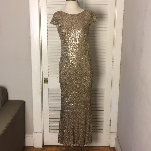 6c79926957d59 Badgley Mischka Dresses & Skirts - Badgley Mischka Gold Sequins Cowl Back  Gown 2